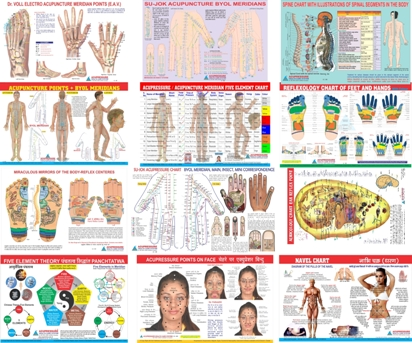 Acupressure + Other Therapy Chart Set of 20